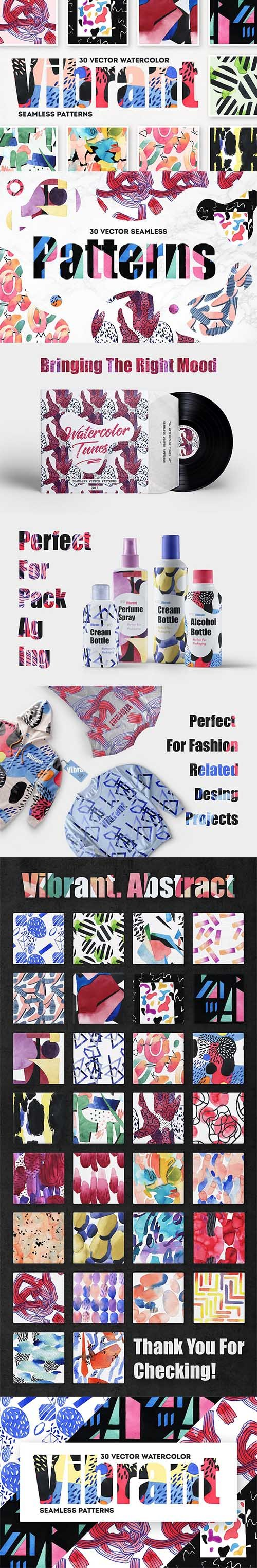 Vibrant Watercolor Patterns - CM 1374638