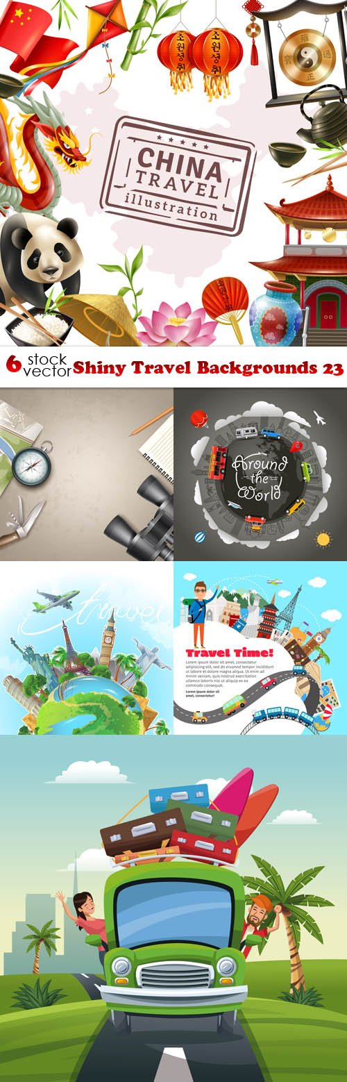 Vectors - Shiny Travel Backgrounds 23