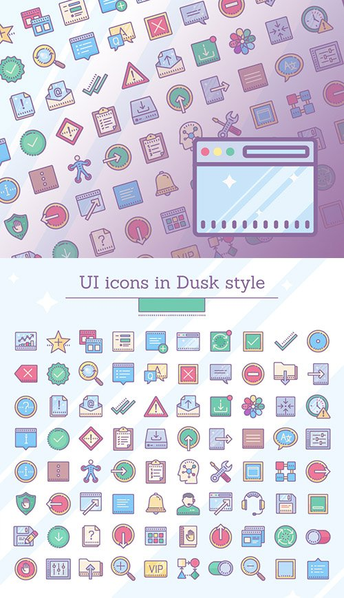 EPS, PNG, PDF, SVG Vector Icons - Dusk