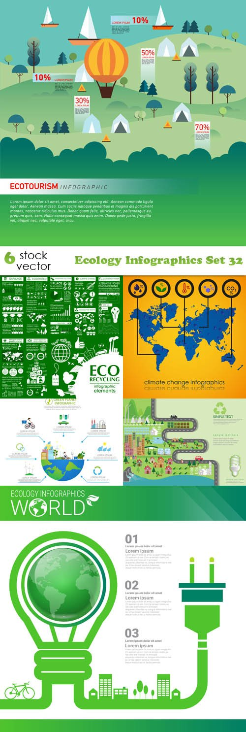 Vectors - Ecology Infographics Set 32