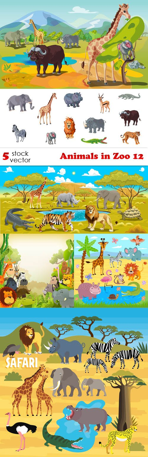 Vectors - Animals in Zoo 12