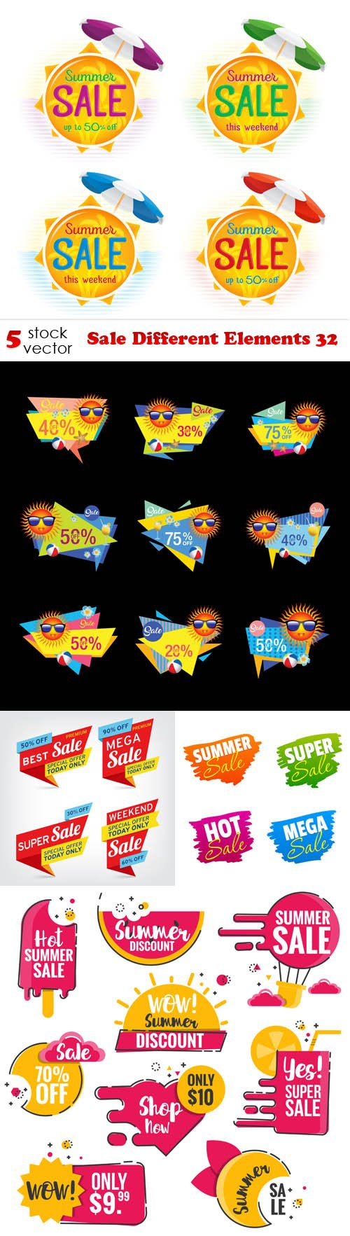 Vectors - Sale Different Elements 32