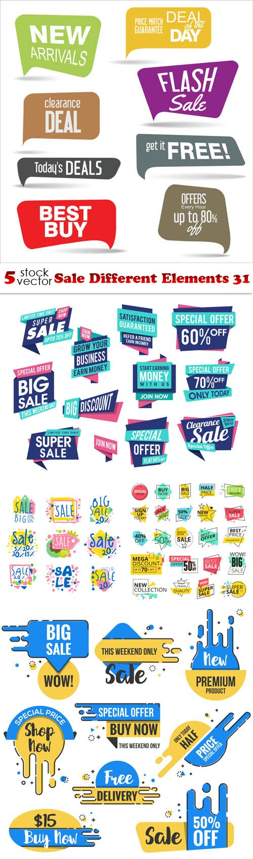 Vectors - Sale Different Elements 31