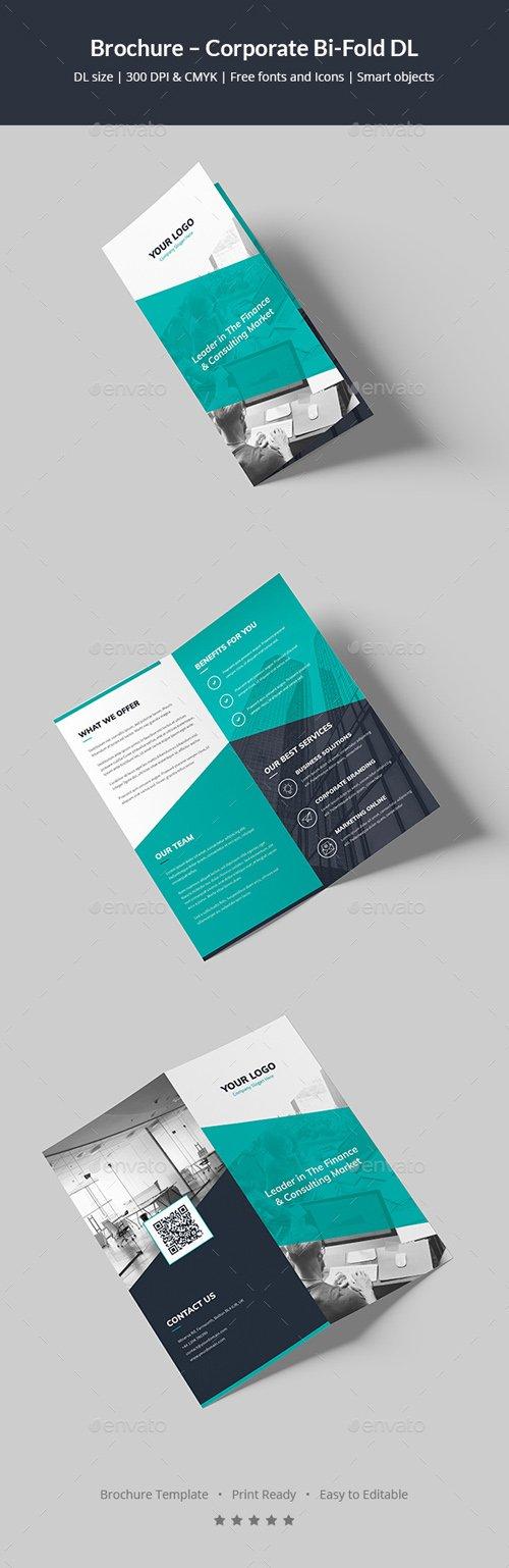 Brochure corporate bi fold dl 20262463 nitrogfx for Dl brochure template