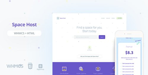 ThemeForest - Space Host WHMCS & HTML Landing Page (Update: 14 June 17) - 19787437