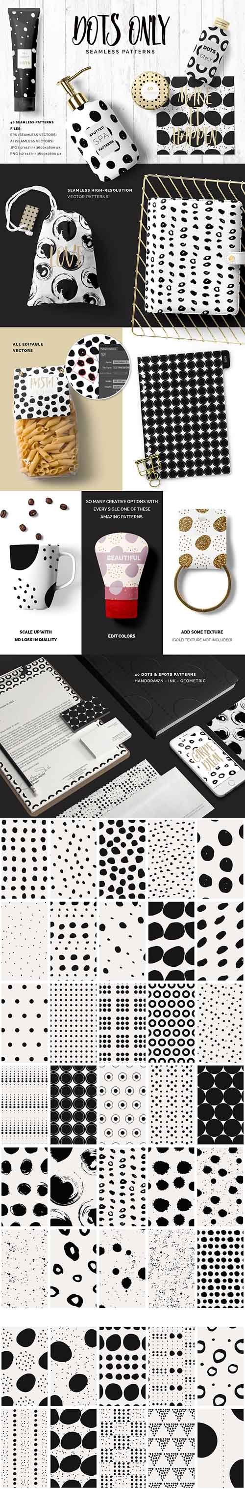 Dots Spots Seamless Patterns - CM 1395223