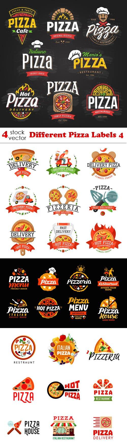 Vectors - Different Pizza Labels 4