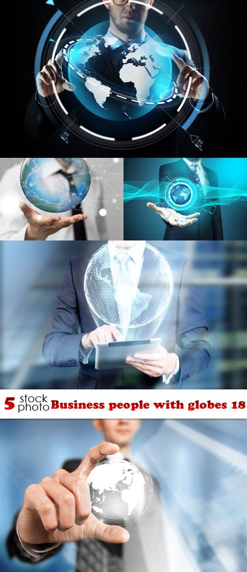 Photos - Business people with globes 18