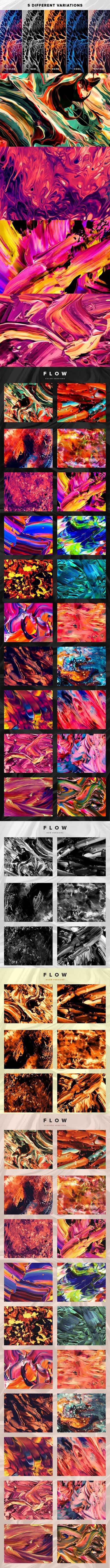 Flow: 100 fluid abstract paintings 1631334