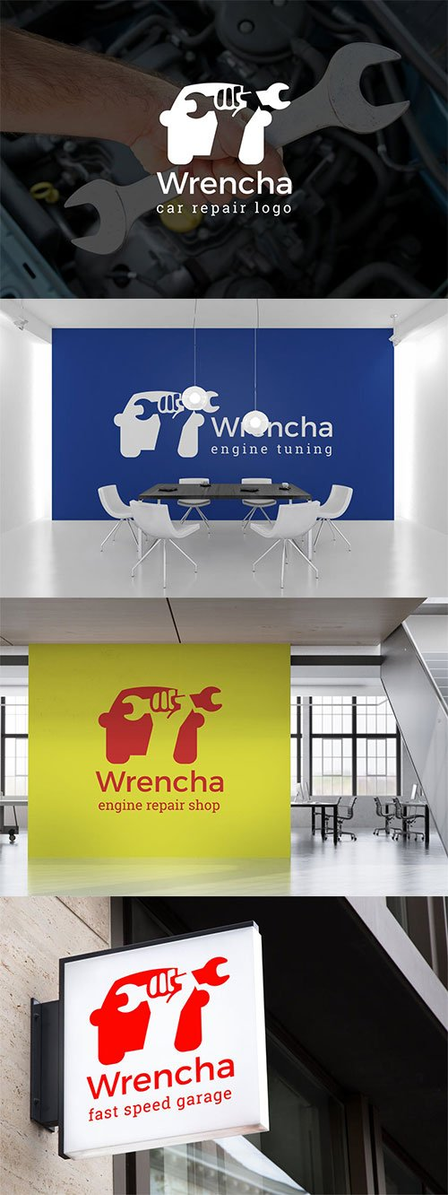 Wrench : Car Repair & Auto Repair Logo