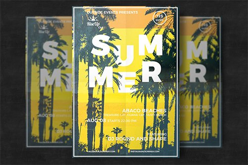 Creative tropical summer flyer