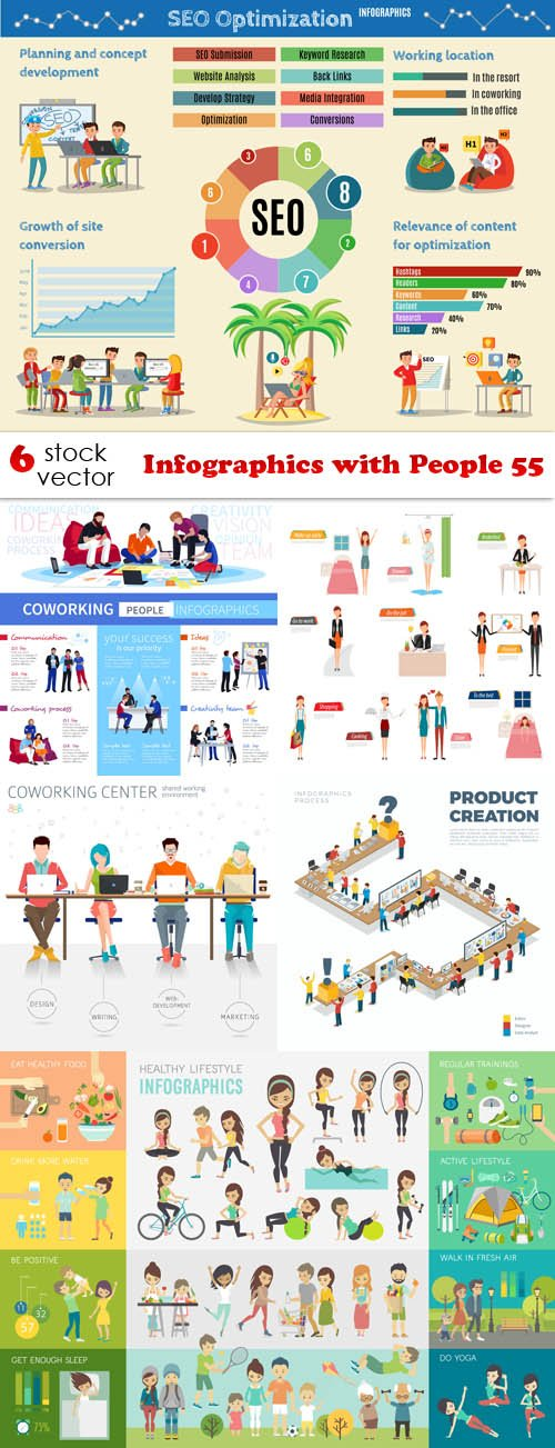Vectors - Infographics with People 55