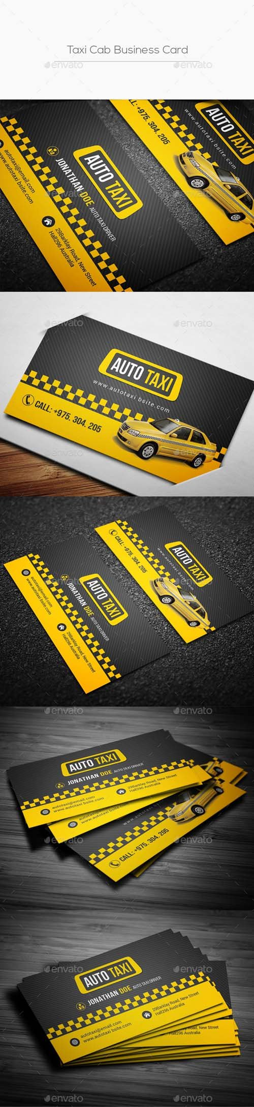 Taxi Cab Business Card 20215185