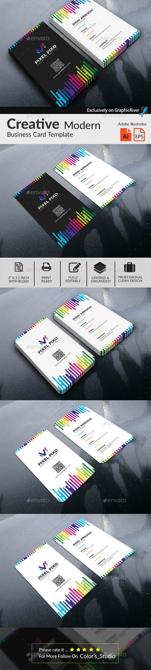 Multipurpose Colorful Creative Business Card 20261657