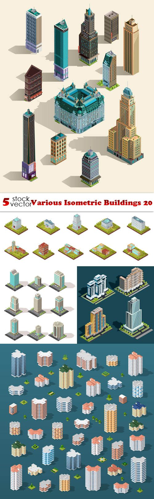 Vectors - Various Isometric Buildings 20