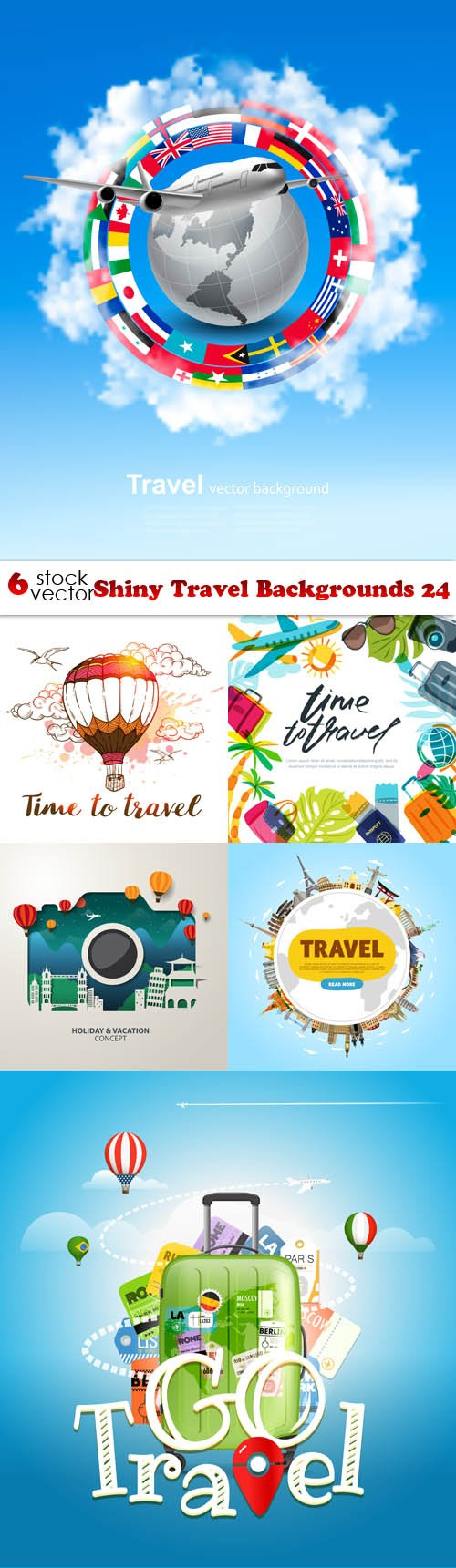 Vectors - Shiny Travel Backgrounds 24