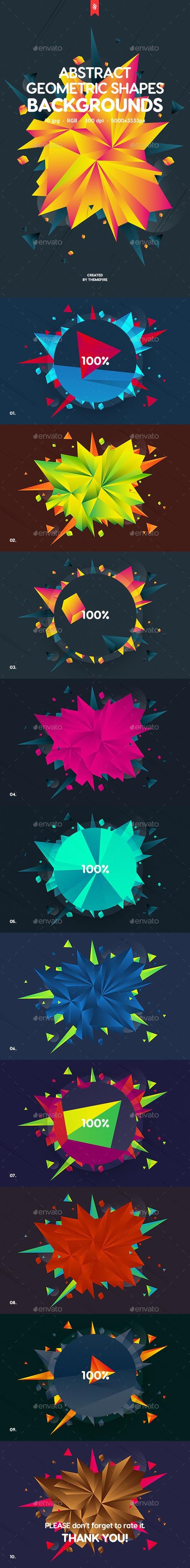 Abstract Geometric Shapes Backgrounds 20286224