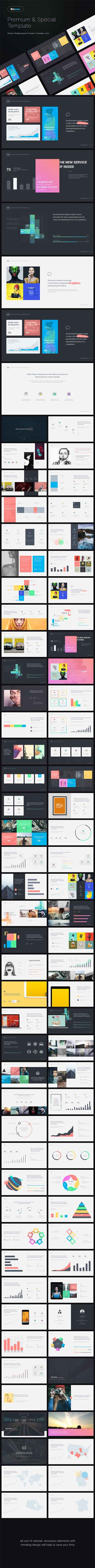 BizOne Creative & Multipurpose Powerpoint Template 19899314