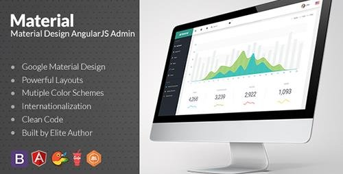 ThemeForest - Material v1.3.3 - Design Admin with AngularJS - 13582227