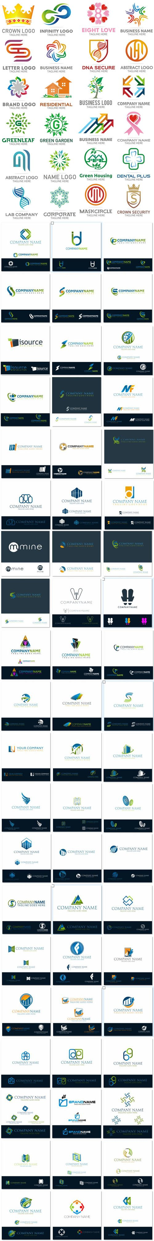 90 Business Logo Designs in Vector