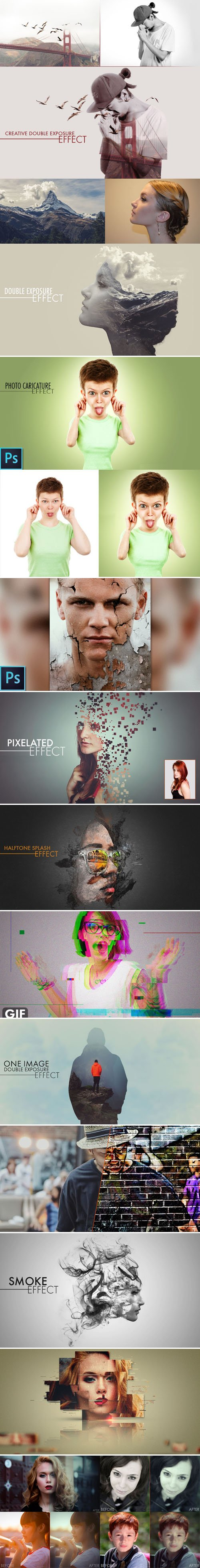 12 Awesome PSD Effects Bundle
