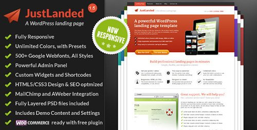 ThemeForest - JustLanded v1.6.5 - WordPress Landing Page - 3804089
