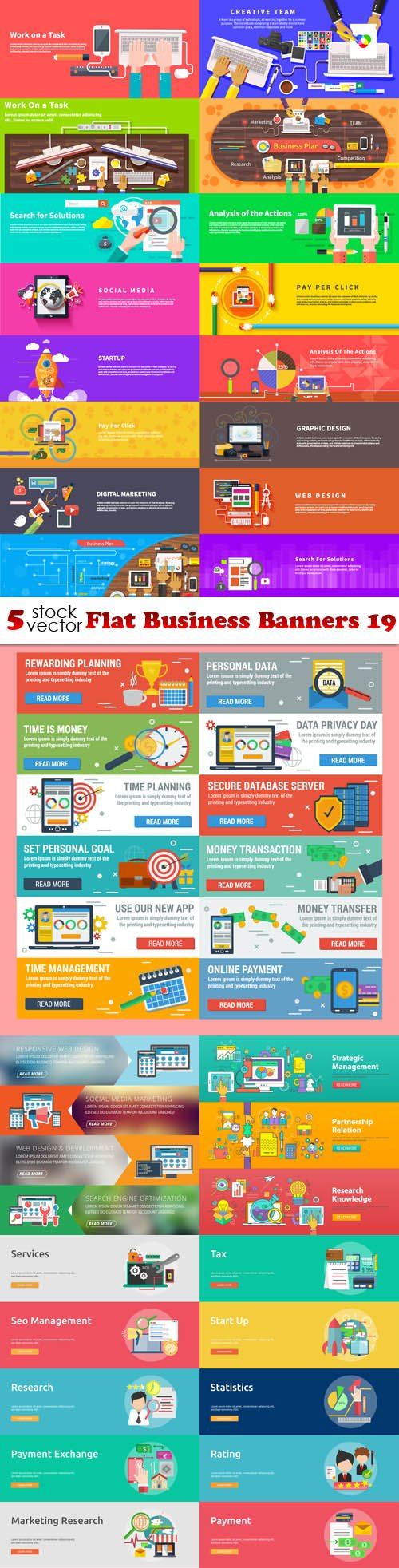 Vectors - Flat Business Banners 19