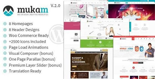 ThemeForest - Mukam v2.2.3 - Limitless Multipurpose WordPress Theme - 6347310
