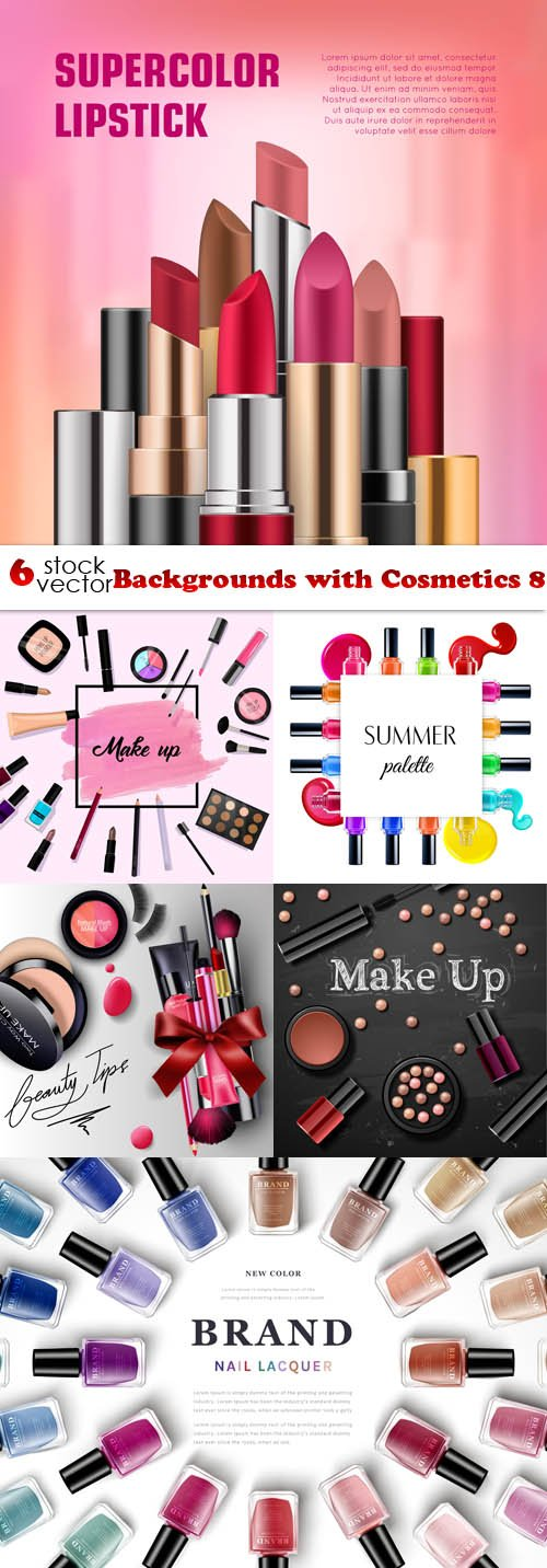 Vectors - Backgrounds with Cosmetics 8