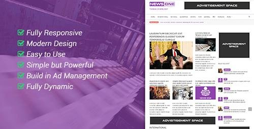 CodeCanyon - NewsOne v1.0 - Creative Solution For Newspaper Magazine & Blog - 19864043