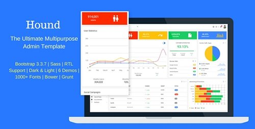ThemeForest - Hound v1.0 - The Ultimate Multipurpose Admin Template - 20212596