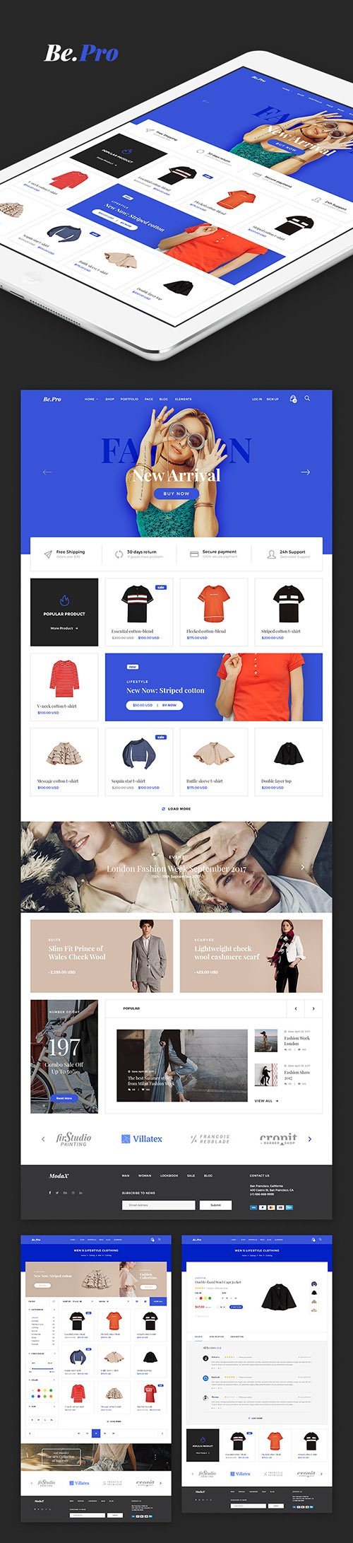 PSD Web Template - Be.Pro - Fashion eCommerce Theme