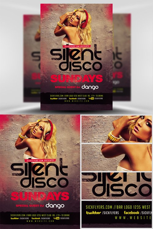 Flyer Template - Silent Disco