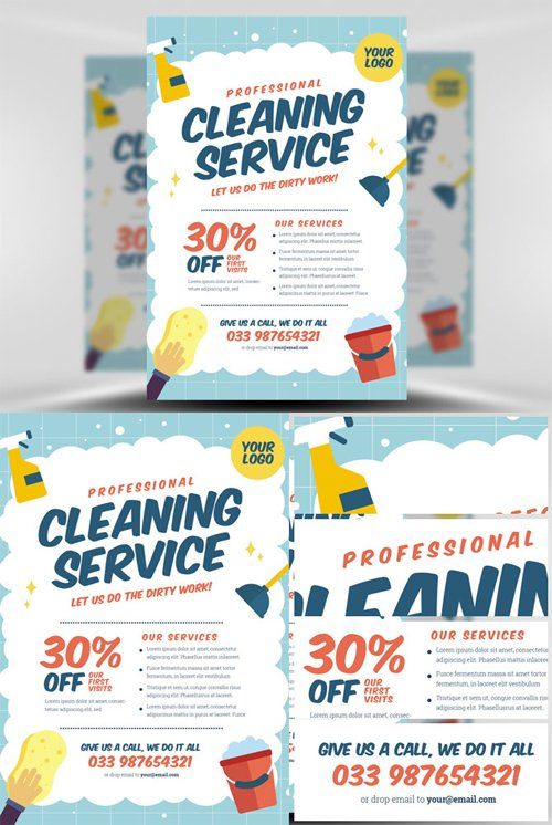 Flyer Template - Cleaning Service V2