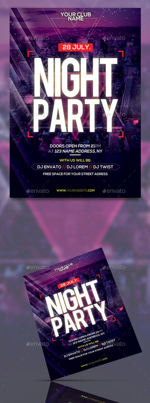 Night Party Flyer Template 20269040