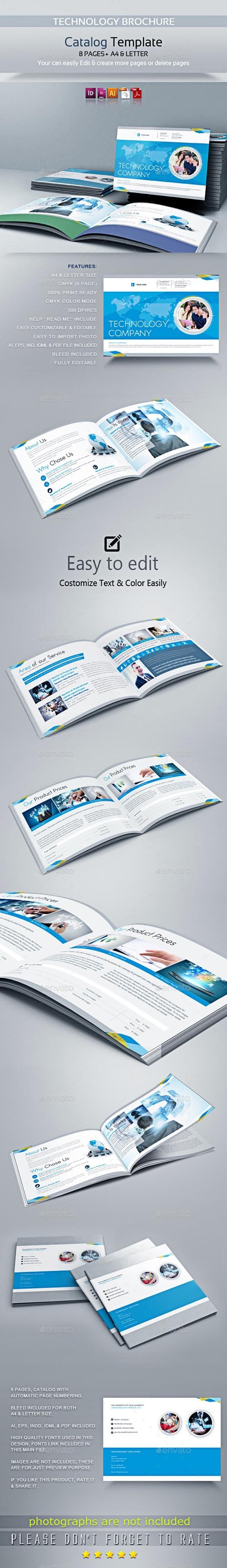 Graphicriver - Technology Brochure Catalog 20214890