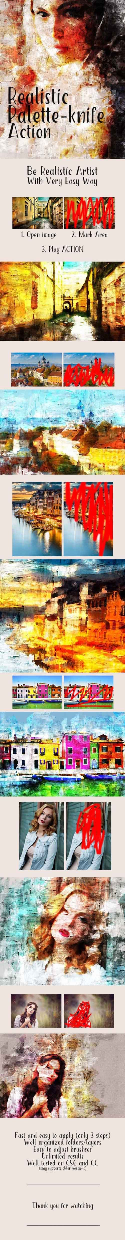 Graphicriver - Realistic Palette-Knife Painting Action 20214877