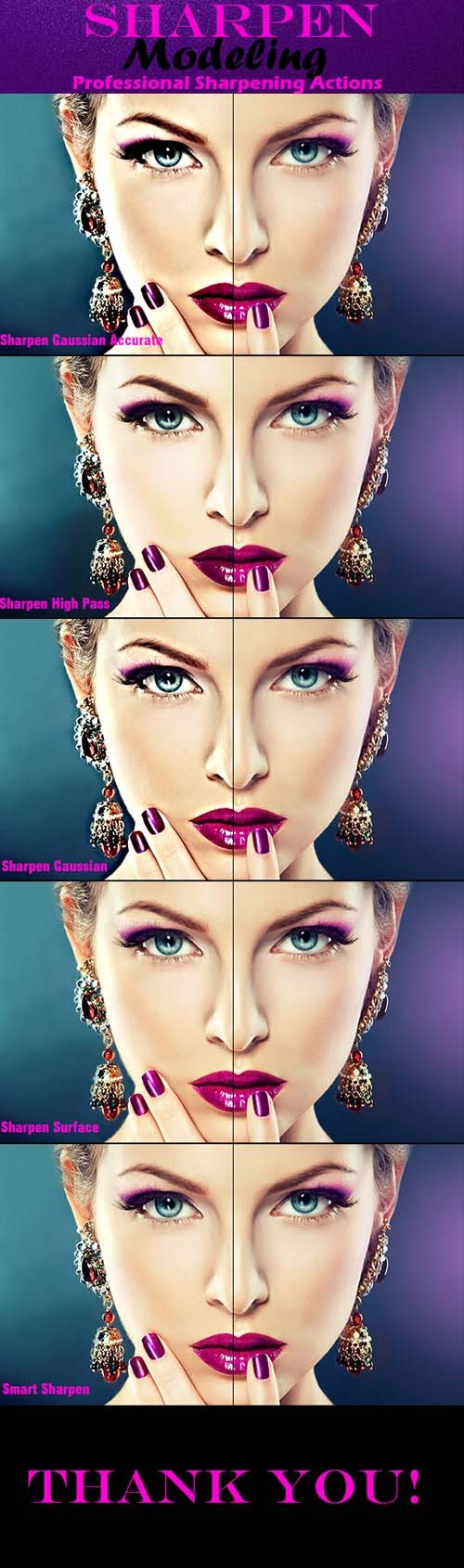 Graphicriver - 5 Sharpen Beauty PS Actions 20224446
