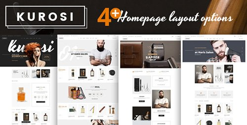 ThemeForest - Kurosi v1.0 - Magento Theme for Barbers & Hair salon - 20323289