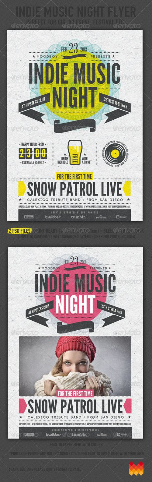 Indie Music Night Flyer / Poster 4123510