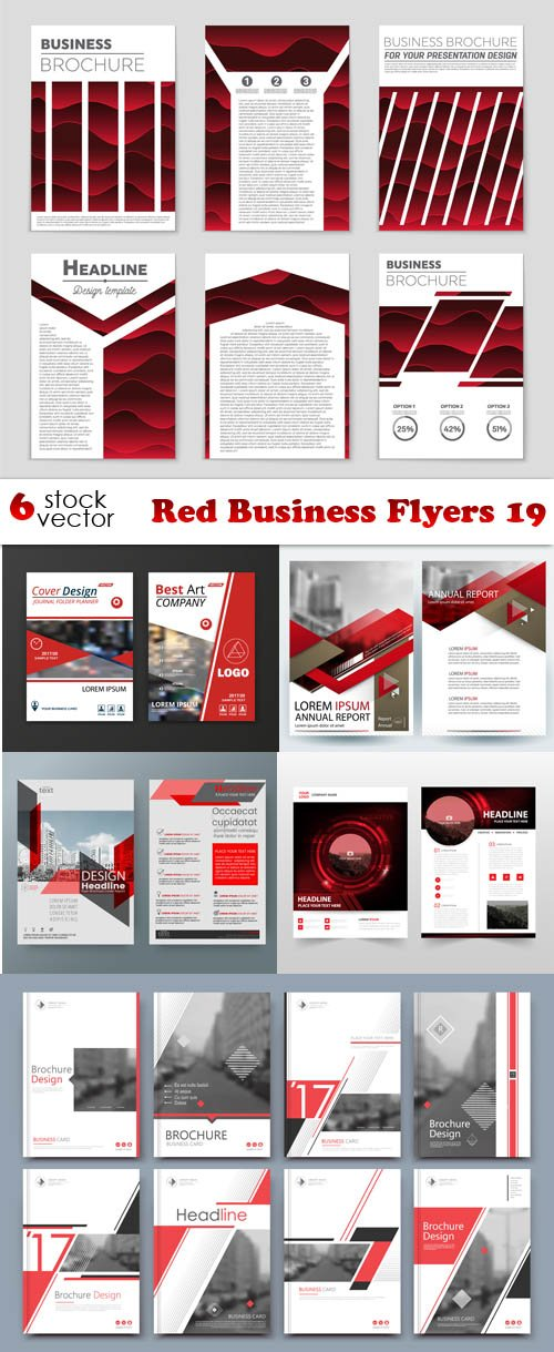 Vectors - Red Business Flyers 19