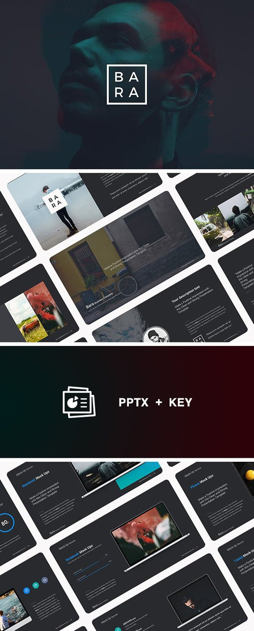 Bara Business PowerPoint/Keynote Theme (134 Slides)