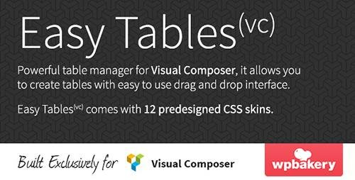 CodeCanyon - Easy Tables v1.0.11 - Table Manager for Visual Composer - 5559903