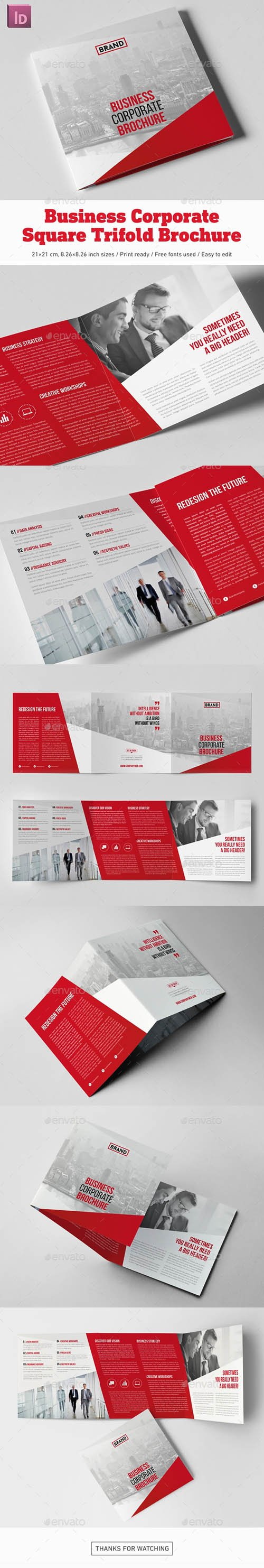 Graphicriver - Business Corporate Square Trifold Brochure 20239753