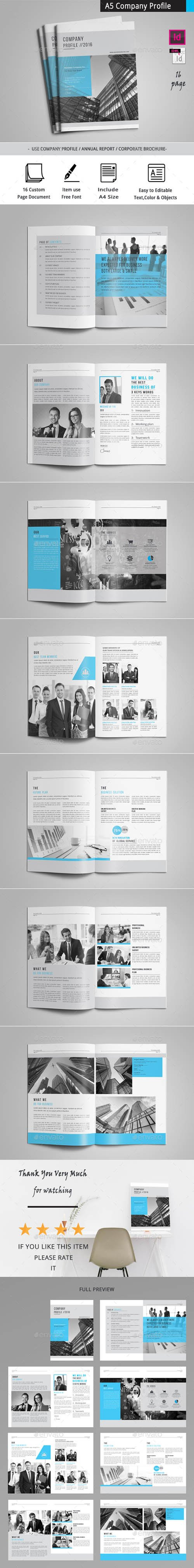 Graphicriver - A5 Company Profile 20236102
