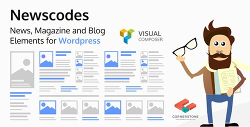 CodeCanyon - Newscodes v2.1.0 - News, Magazine and Blog Elements for Wordpress - 14714969