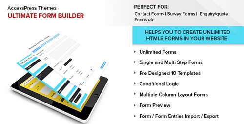 CodeCanyon - Ultimate Form Builder v1.1.4 - 14644208