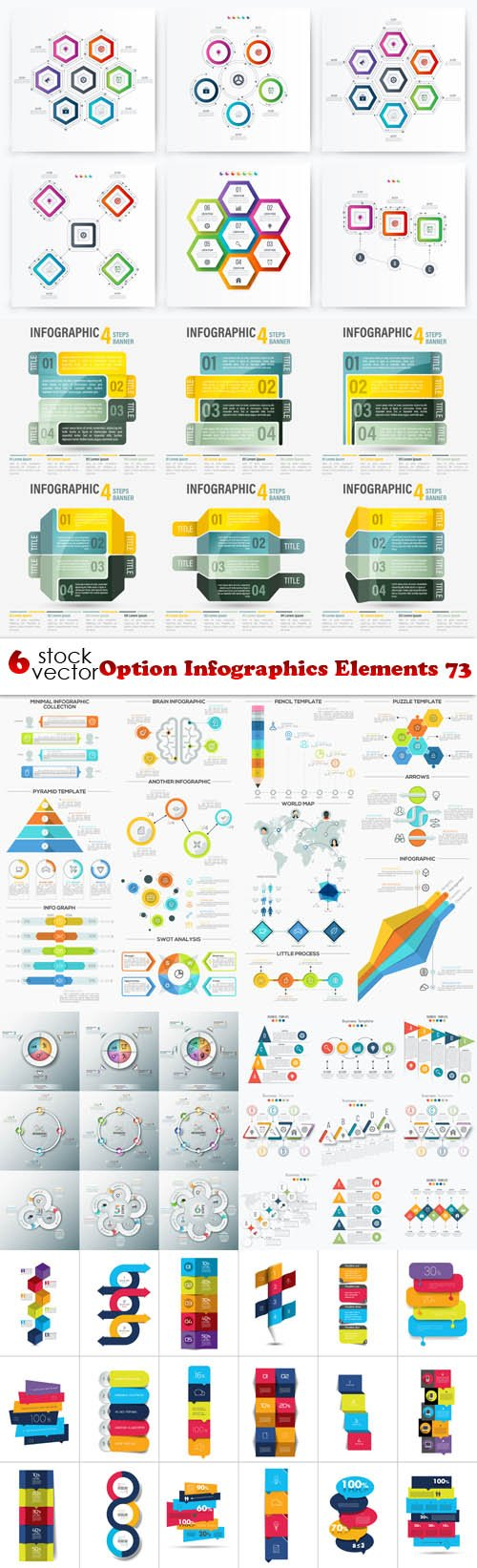 Vectors - Option Infographics Elements 73