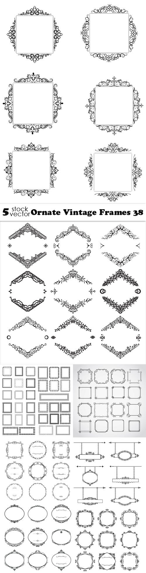 Vectors - Ornate Vintage Frames 38
