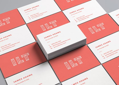 PSD Mock-Up - Perspective Business Cards 2017